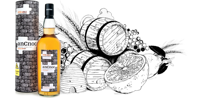 anCnoc Bricks illustration with honey and lemon tasting notes
