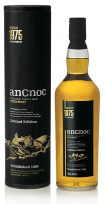 anCnoc single malt Scotch whisky Vintage 1975