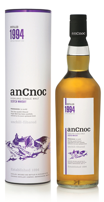 anCnoc single malt Scotch whisky Vintage 1994