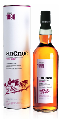 anCnoc single malt Scotch whisky Vintage 1999
