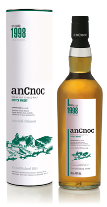 anCnoc single malt Scotch whisky Vintage 1998