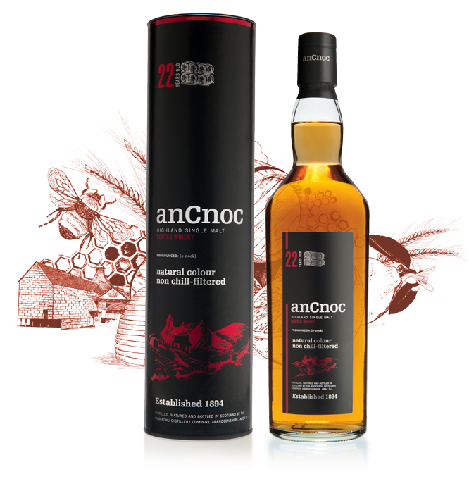 anCnoc 22 Years Old Bottle & tube