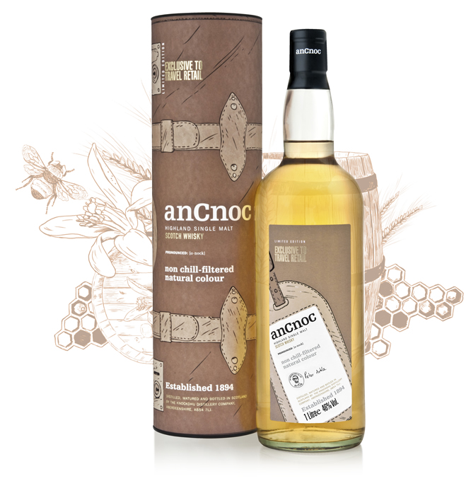 anCnoc single malt Scotch whisky Luggage