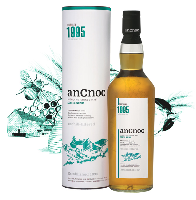anCnoc single malt Scotch whisky Vintage 1995