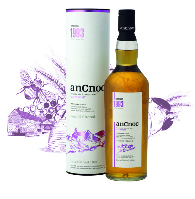 anCnoc single malt Scotch whisky Vintage 1993