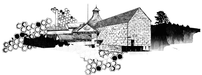 Knockdhu Distillery illustration