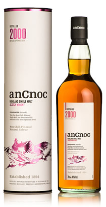 anCnoc single malt Scotch whisky Vintage 2000