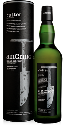 anCnoc single malt Scotch whisky Cutter bottle and tube