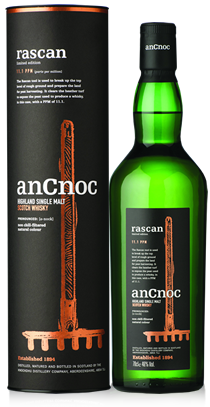 anCnoc single malt Scotch whisky Rascan bottle and tube