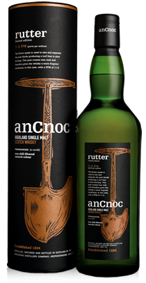 anCnoc single malt Scotch whisky Rutter bottle and tube