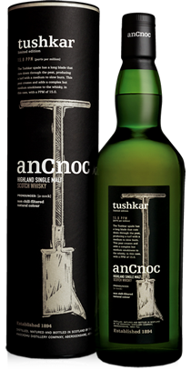 anCnoc single malt Scotch whisky Tushkar bottle and tube