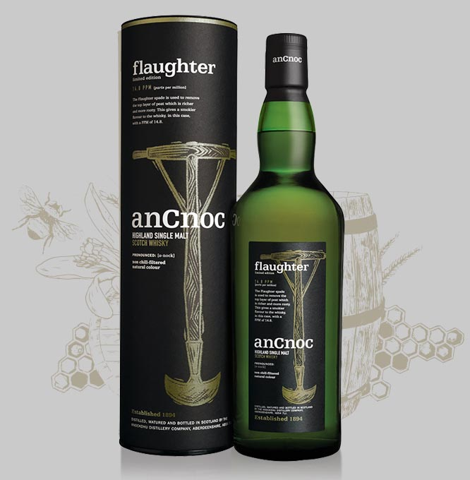 anCnoc Flaughter bottle with illustration
